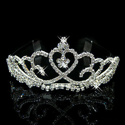 Wedding Bridal Prom Pageant Austrian Crystal Rhinestone Tiara Crown Hair Comb