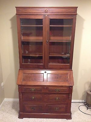 Secretary Desk & Hutch from late 1880's Antique Furniture Heirloom Piece