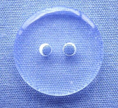 18mm Clear 2 Hole Button (x 5 buttons)