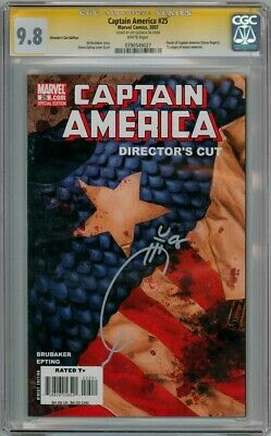 Captain America #25 Dc Cgc 9.8 Signature Series Signed Quesada Movie 3 Civil War
