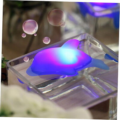 Baby Kids Bath LED Dolphin Light Lamp Lovely Toy Colorful Flashing Changing GU