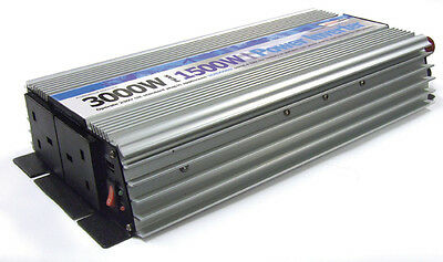 1500W Main Car Camping Power Inverter 230V AC-12V DC With Twin USB Ports