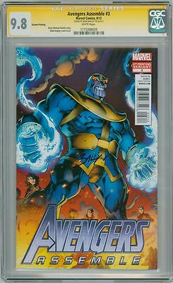 Avengers Assemble #3 Thanos Variant Cgc 9.8 Signature Series Signed Mark Bagley