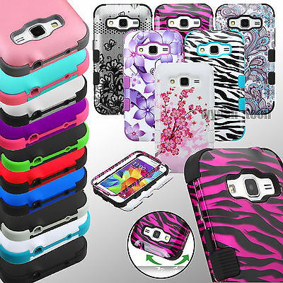 Hybrid Hard Case Tuff Protective Shockproof Cover for Samsung Galaxy Phones