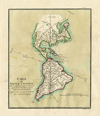 Antique Map-SOUTH AMERICA-USA-AMERICA-Buffon-De Vaugondy-1822