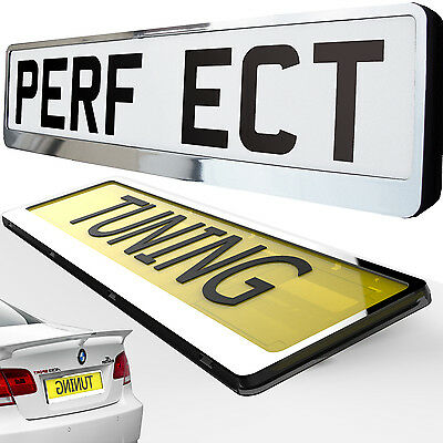 Number Plate Holder ANY CAR black silver chrome carbon gold pink  tuning sale