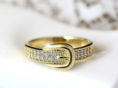 Horse & Western Jewellery Jewelry Ladies Western Belt Buckle Ring Gold 7.5/o