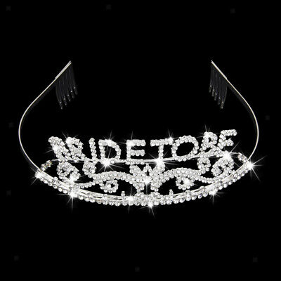 Bride to Be Tiara Sparkle Crystal Rhinestone Crown Hen Night Party Accessory