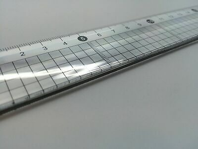 30cm Acrylic Cutting Ruler with Steel Edge - Clear Transparent Crafts