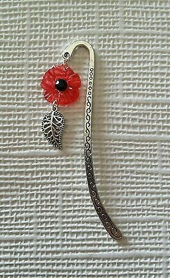 Poppy Metal Swirl Bookmark.