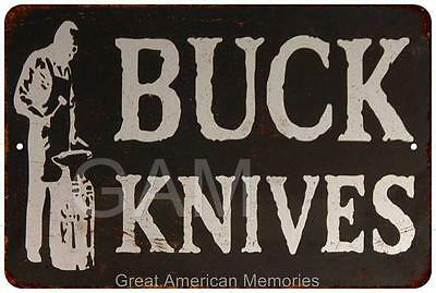 Buck Knives Vintage Look Reproduction 8x12 Metal Sign 8121244