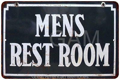Blue Men's Restroom Vintage Look Reproduction 8x12 Metal Sign 8120765
