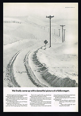 1969 VW Volkswagen Beetle Car Beautiful Pictures Photo Vintage Print Ad
