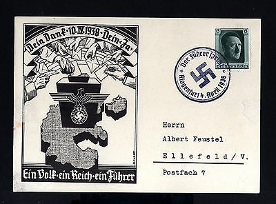 5484-GERMAN EMPIRE-Third reich.CENSOR POSTCARD KLAGENFURT.WWII.DEUTSCHES REICH