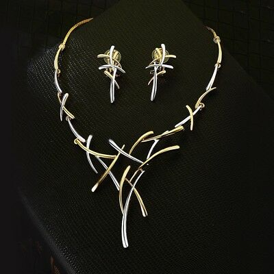 Viennois Fashion Women Gold & Silver Plated Jewelry Sets Necklace Earring Set