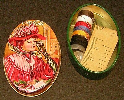 "VINTAGE COCA COLA 1981 ""Sewing Tin""..Complete!    #2"