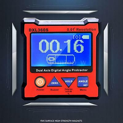 DXL360S High-precision Dual Axis Digital LCD Angle Protractor Level Gauge S5I1