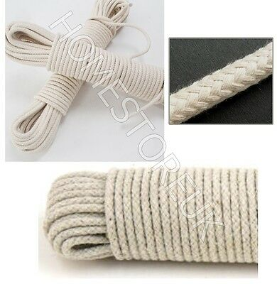 4Mm 10/15/20/25/30M Cotton Rope Pulley Clothes Line Traditional Washing Camping