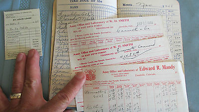 Time Book Listing Leadville Colorado MInes-W Smith Assay Certificates-1948