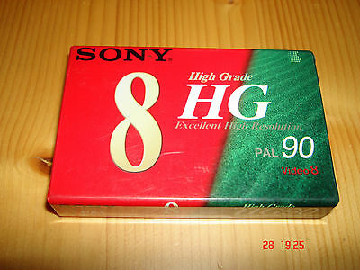 Cinta Cassette Video 8 PAL 90min SP SONY HG90 Video 8