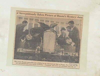 1949 ZIS 110 Russia Automobile Newspaper Clipping 1942 Packard wv3205