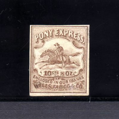 USA-UNITED STATES-OFFICES AMERICAINS.PONY EXPRESS.1868.Wells Fargo & Co.10 Cents