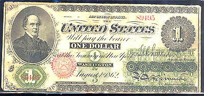 1862 $1 UNITED STATE NOTE-LEGAL TENDER-FR#17a