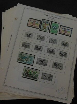 CENTRAL AFRICA : Beautiful all VF MNH collection on album pages between 1959-67.
