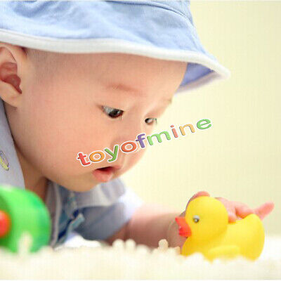 1/5/10/20  x Yellow Cute Rubber Race Squeaky Duck Ducky Baby Kids Children game