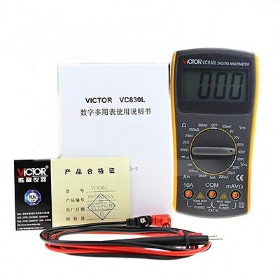 VICTOR VC830L Digital Multimeter Electrical Appliances Volt Amp Ohm Tester New