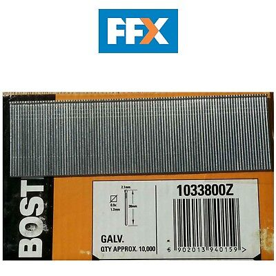 Bostitch BOS1033800Z 38mm Galvonized Pins 10000 pack