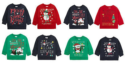 Boys Girl Babies Christmas Sweaters Jumpers Various Styles 6-9 months up to 5-6y