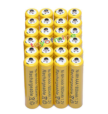 24 pcs AAA 1800mAh 1.2 V Ni-MH Rechargeable battery Y1