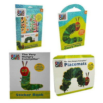 the Very Hungry Caterpillar Eric Carle book 4 Books Collection Set NEW stickers