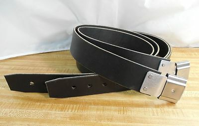 Amish Handmade Genuine USA Leather 2-inch STIRRUP STRAPS with BUCKLES--BLACK