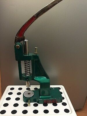 Multifuctional Button, Eyelet Making Press Cover Machine & Free Dies + Buttons