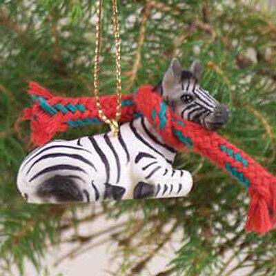 ZEBRA with Scarf Tiny One Miniature Christmas ORNAMENT