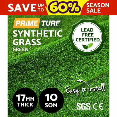 10 SQM Synthetic Turf Artificial Green Grass Plastic Plant Lawn Flooring 17mm