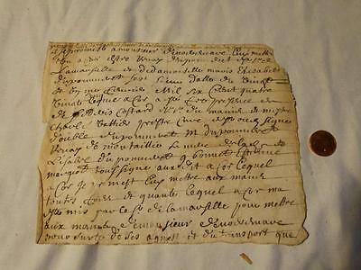 Antique European 18thC  Manuscript UNIDENTIFIED  #A27