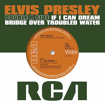 """Elvis Presley - If I Can Dream Bridge Over Troubled Water NEW 7"""" (REL 16 OCT)"""