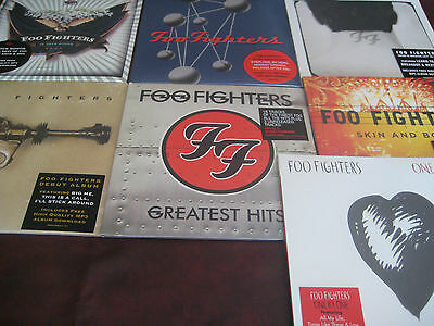 Foo Fighters Collection 7 Titles - 12 Sides Of Vinyl Original Marketing Stickers