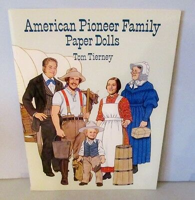 Mint & Uncut 1996 American Pioneer Family Paper Dolls By Tom Tierney
