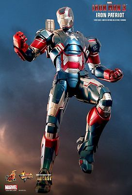 Hot Toys 1/6 Marvel Iron Man 3 Mms195D01 Diecast Iron Patriot Action Figure