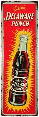 Drink Delaware Punch Vintage Look Reproduction 6x18 Metal Sign 6180069