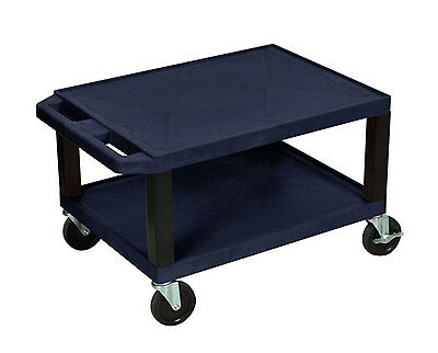 "Offex 16"" H Tuffy Multi-Purpose Utility Cart No Electric Navy Blue w/ Black Legs"