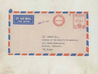 1962 Standard Triumph Factory Letter India wv3294