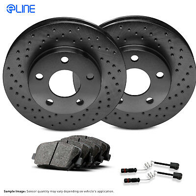 2 FRONT + 2 REAR Black Hart *DRILLED /& SLOTTED* Disc Brake Rotors C2847