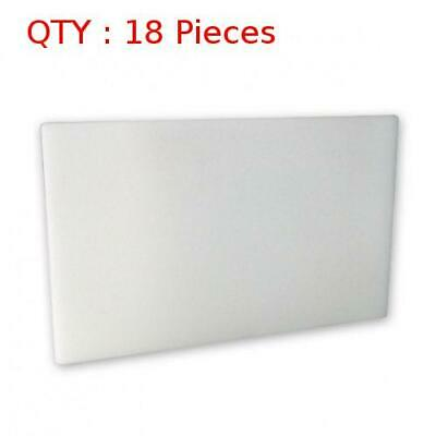 18 Heavy Duty White Plastic Kitchen Hdpe Cutting/Chopping Board 450X450X13mm