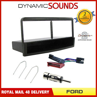 Single DIN Fascia Facia Adaptor Fitting Package Kit For Ford Connect 1997 - 2006