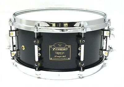"Rullante Tamburo Formula limited edition 13""X6,5 black snare drum Made in Italy"